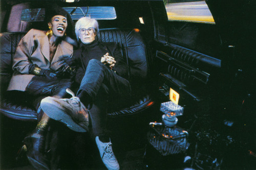 Grace Jones and Andy Warhol