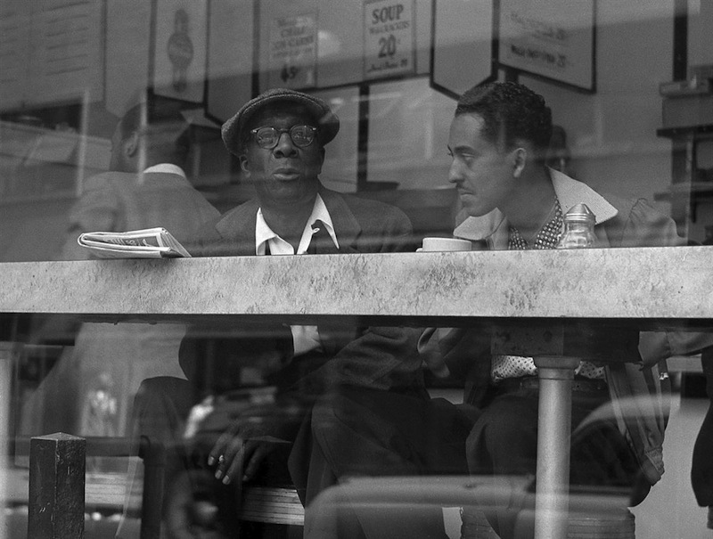 Coffee Shop Conversation Near Times Square by Frank Oscar Larson.ss_full