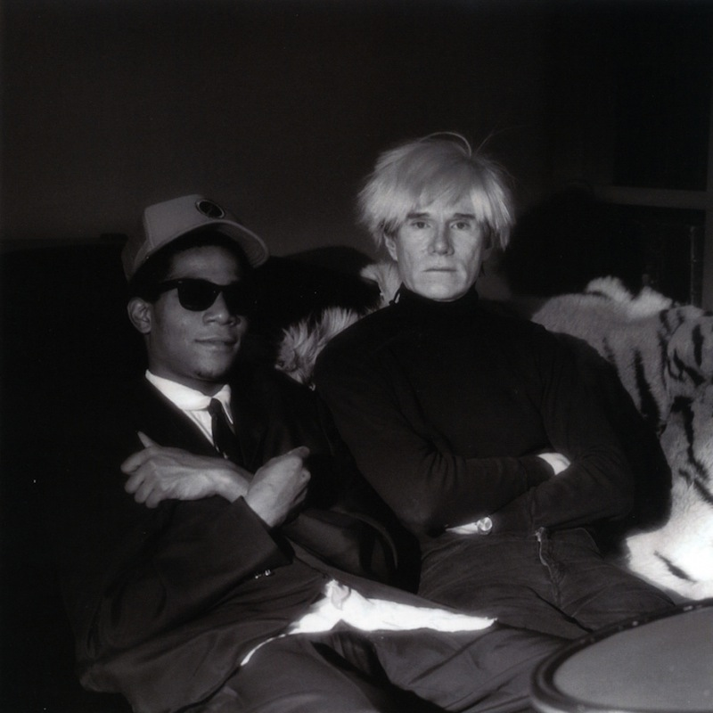 Jean-Michel Basquiat and Andy Warhol, NYC 1985 #3