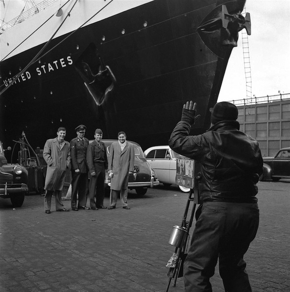 Posing for the Camera-Pier 86- 46th Street   Frank Oscar Larson.ss_full