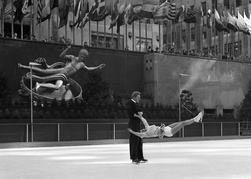 Professional Skaters Execute Turn in Mid-Air-Rockefeller Center Frank Oscar Larson.ss_full