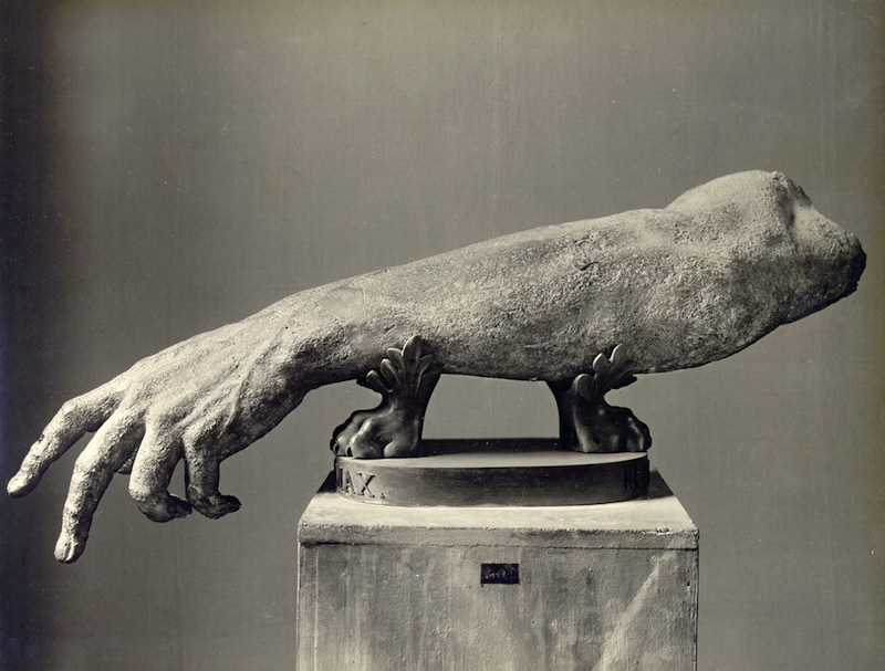 Arm from an Antic Sculpture, photo by Alinari copie