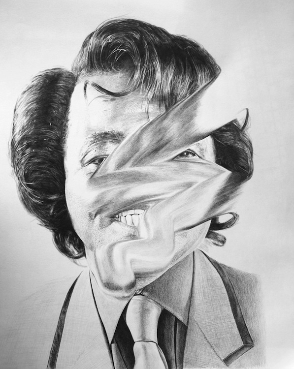 Jonathan Zawada-Can The Drummer Give Some Back 1-60 x 70cm, pencil on paper
