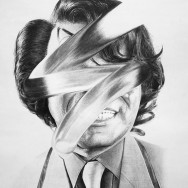 Jonathan Zawada-Can The Drummer Give Some Back 2-60 x 70cm, pencil on paper