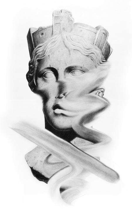 Jonathan Zawada-Dipset Dipset Dipset-60 x 80cm, pencil on paper