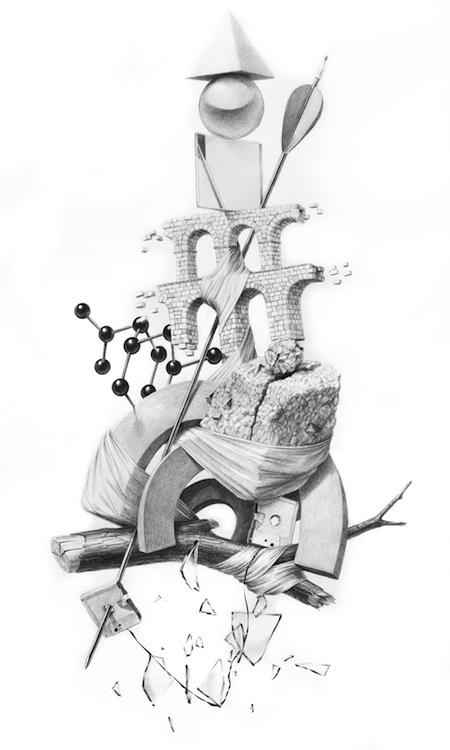 Jonathan Zawada-Maxwell's Demon-60 x 80cm, pencil on paper