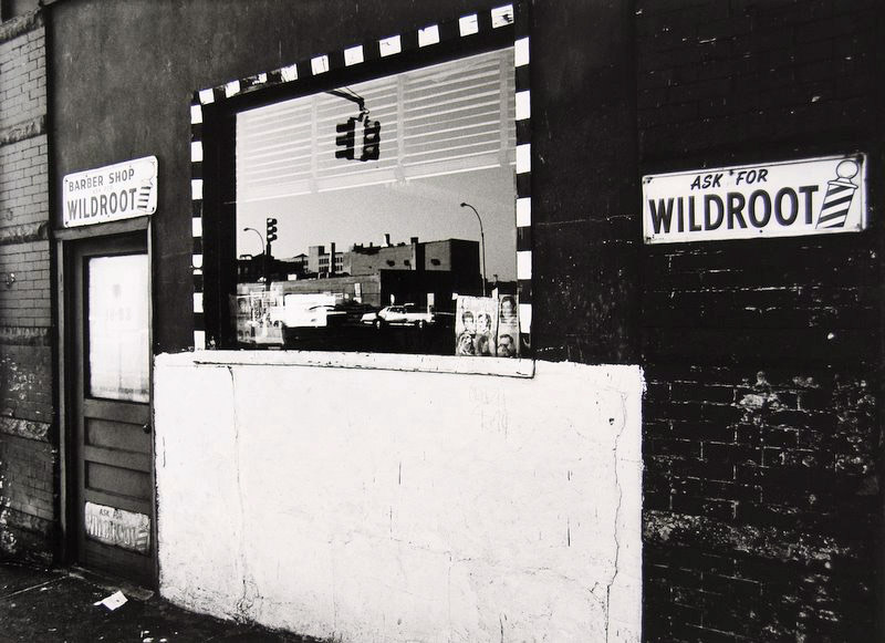 Tom Baril-Ask For Wildroot. NYC, Silver print on original mount,  9-1:2 x 12-7:8 in. (241 x 327 mm) 1977