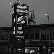 Tom Baril-Coney Island Hot Dogs, Worchester, MA, Silver print on original mount, 16 x 12 in. (406 x 305 mm) 1979