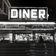 Tom Baril-Diner, Freehold, NJ, Silver print on original mount, 16 x 20 in. (406 x 508 mm) 1985