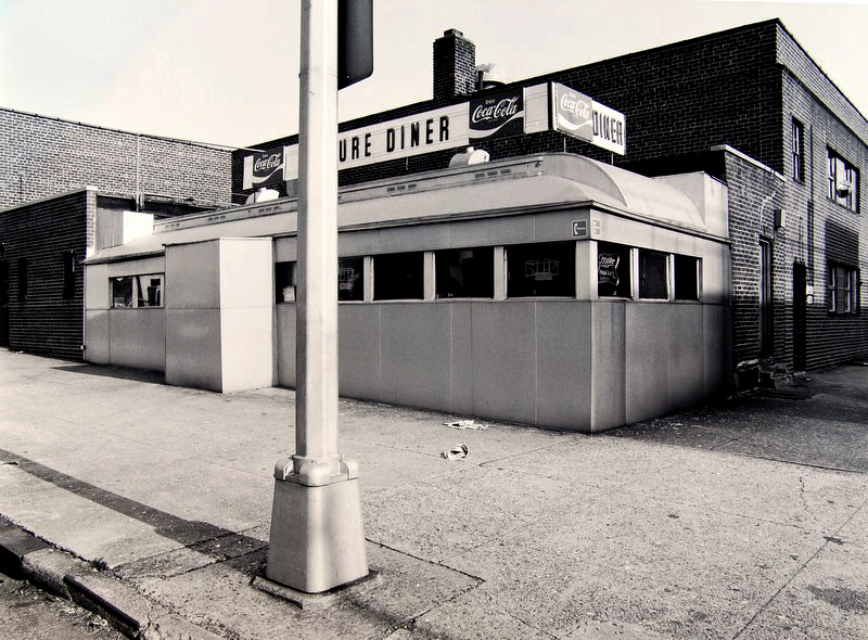 Tom Baril-Epicure Diner, Queens, NY, Silver print on original mount, 16 x 20 in. (406 x 508 mm) 1980