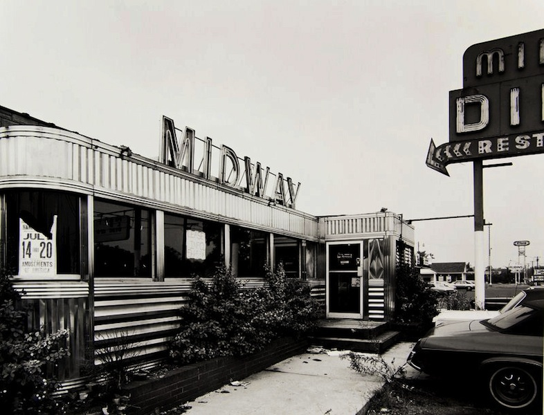 Tom Baril-Midway Diner, NJ, Silver print on original mount, 16 x 20 in. (406 x 508 mm) 1980