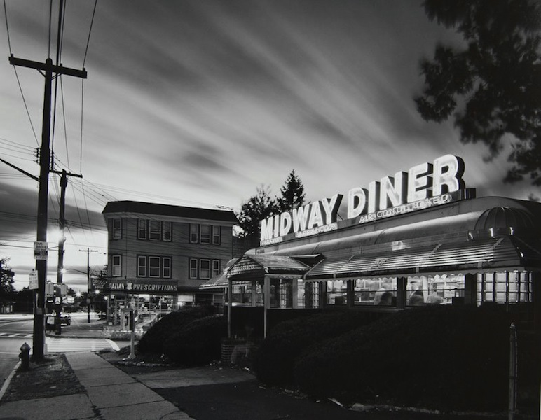 Tom Baril-Midway Diner, Staten Island, Silver print on original mount, 16 x 20 in. (406 x 508 mm) 1982