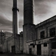 Tom Baril-Smoke Stacks, Brooklyn, NY, Silver print on original mount, 20 x 16 in. (508 x 406 mm) 1985
