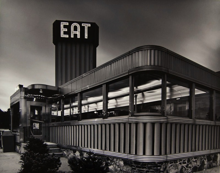 Tom Baril-Zips Diner (Eat), Dayville, CT , Silver print on original mount, 16 x 20 in. (406 x 508 mm) 1981