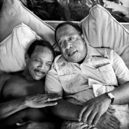Peter Serling-Quincy Jones and Alex Haley, composer and writer, Manzanillo, Mexico