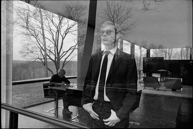 Andy Warhol at The Glass House by architect Philip Johnson
