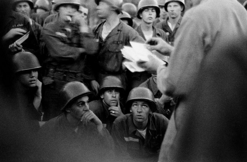 Bruce Davidson-02 Georgia. 1955. Camp Gordon. Army basic training