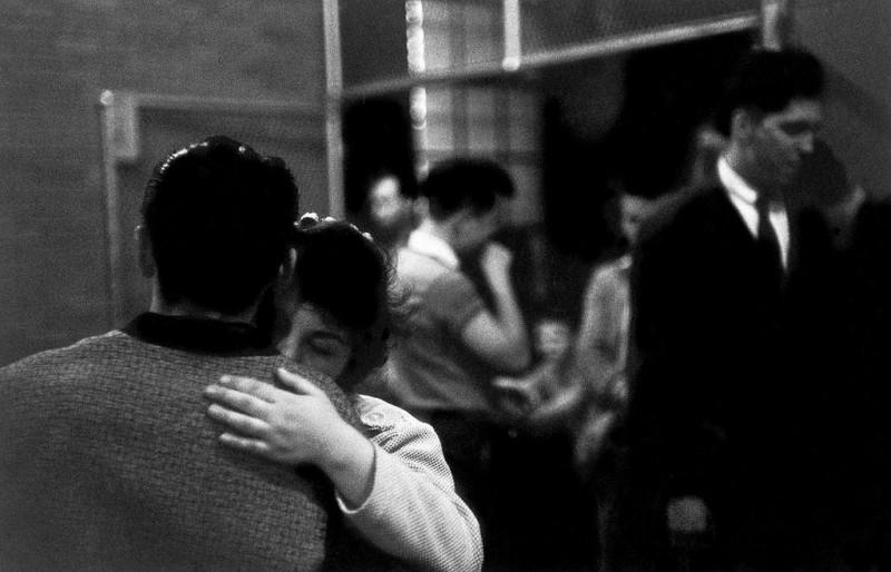 Bruce Davidson-16 Brooklyn, New York. 1959. Girl with eyes closed dancing with boy, from Brooklyn Gang