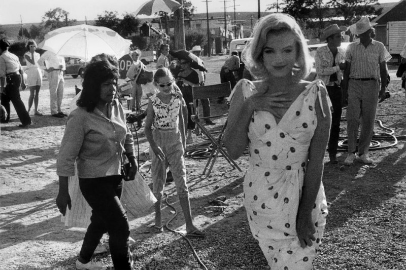 Bruce Davidson-24 Nevada. American actress Marilyn Monroe on the set of -The Misfits-, a film by John Huston. 1960