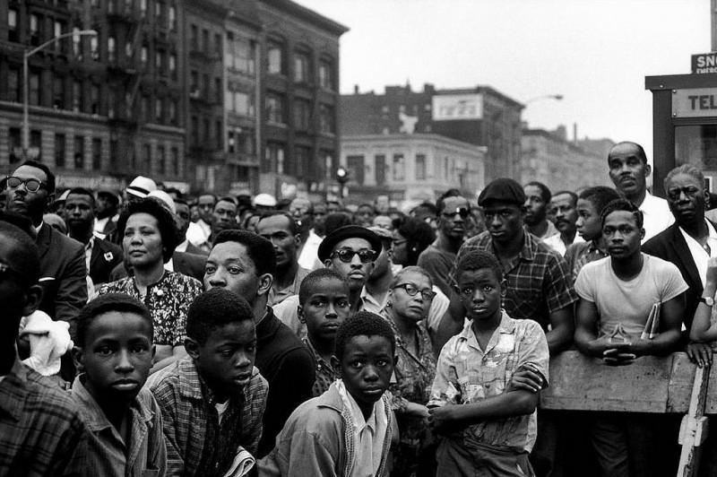 Bruce Davidson-32 New York City. 1963. Malcolm X rally in Harlem
