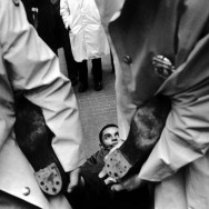 Bruce Davidson-38 New York City. 1964. Man dragged away by his feet during a CORE demonstration