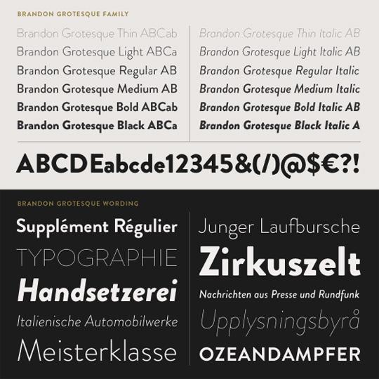 Hannes von Dohren - Brandon Grotesque font