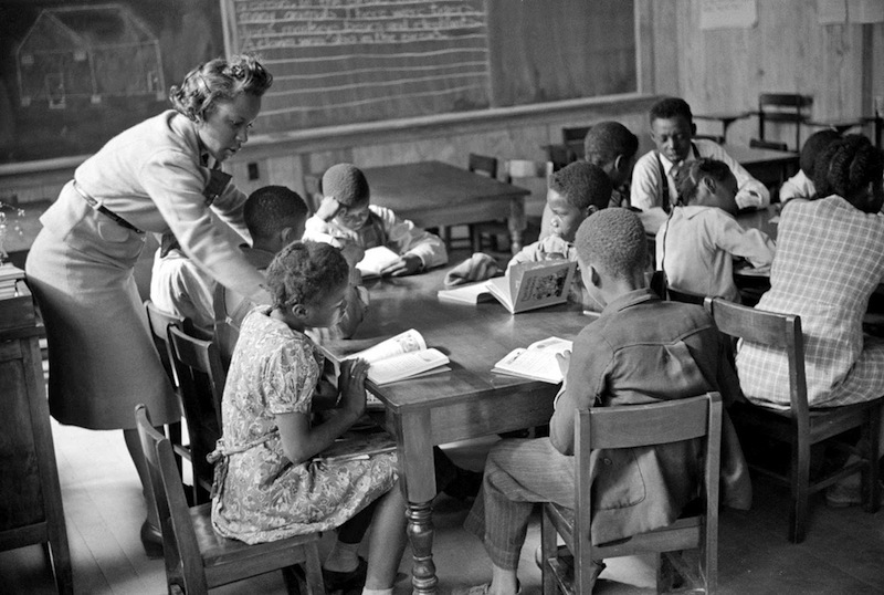 Marion Post Wolcott 13-Primary class in new school, Prairie Farms, Montgomery, Alabama, 1939