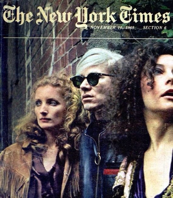 Andy Warhol and friends on the cover of -The New York Times- November 10, 1968 - tumblr_m7mdewLAer1qj0qlso1_1280 copie