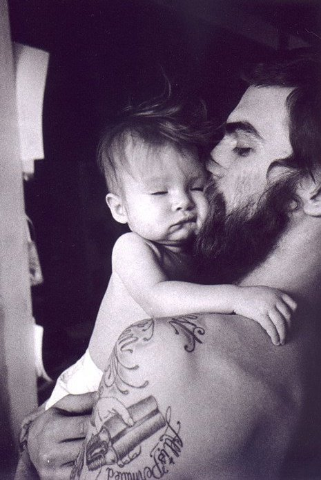 Dash Snow with his daughter Secret Midnight Magic Nico
