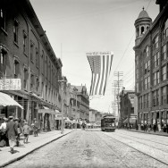 Looking down Congress Street from Congress Square. Detroit Publishing Company, Portland (Maine) 1904. Via Shorpy