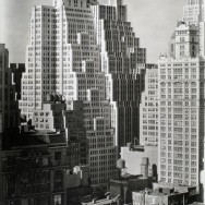 Berenice Abbott-Changing New York (1935-1938)-40th Street between Sixth and Seventh Avenues, from Salmon Tower 11 West 42nd Street, Manhattan, September 08, 1938