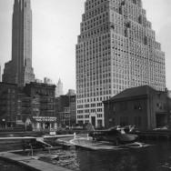 Berenice Abbott-Changing New York (1935-1938)-Downtown Skyport, Pier 11, East River, Manhattan, August 12, 1936