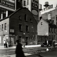 Berenice Abbott-Changing New York (1935-1938)-Mulberry and Prince Streets, Manhattan, October 25, 1935