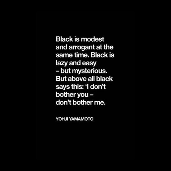 Black by Yohji Yamamoto