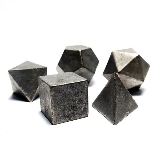 Raw metalic cubic forms