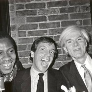 Bob Colacello - Andre Leon, Steve Rubell, and Andy Warhol, Bianca Jagger's Birthday Dinner, Mortimer's, 1981 8 x 10 in. (20.3 x 25.4 cm)