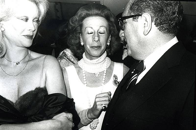 Bob Colacello - Monique Van Vooren, Ina Ginsburg, and Henry Kissinger, ca. 1975 8 x 10 in. (20.3 x 25.4 cm)