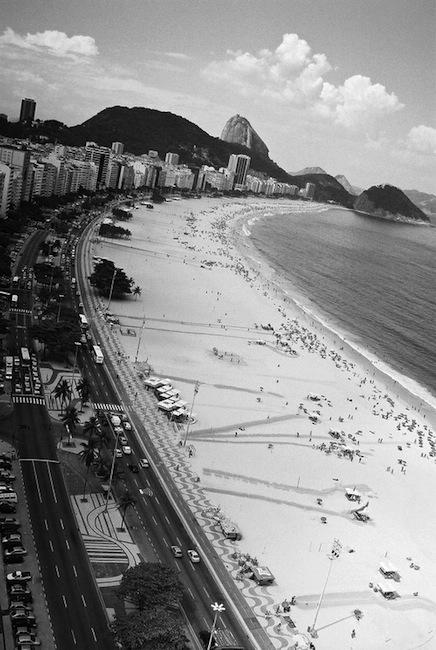 Copacabana beach in Rio de Janeiro, Brasil