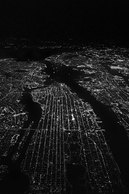 New York City sky view during night