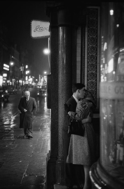 Philip J. Griffiths - A Young Couple Seek A Tender Moment In A Doorway. London, 1960