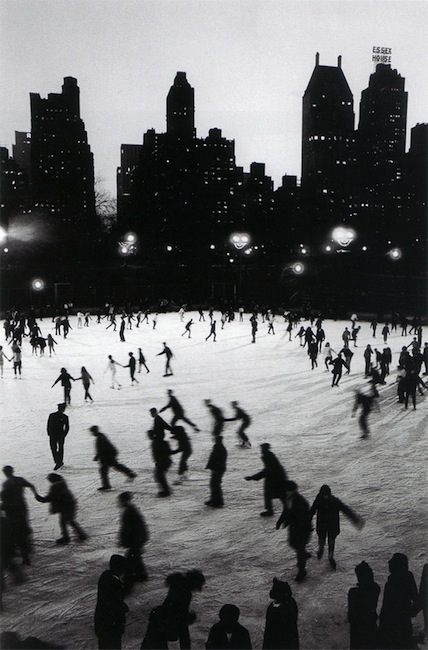 Bruno Barbey - Ice Skating in Central Park at the Wollman Rink