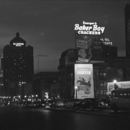 Russell Lee - North Michigan Ave at night, Chicago, circa 1940's