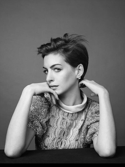 Anne Hathaway by David Slijper for Harper's Bazaar UK magazine, February 2013