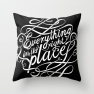 Malcolm Fisher - Everything in it's right place - throw pillow