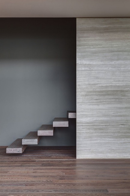 Wooden stairs in -The P1- apartment (Mexico City) by Map-Mx Architects based in NYC, 2011