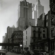 48th Street between 2nd and 3rd Avenues, Manhattan, by Berenice Abbott, February 01, 1938