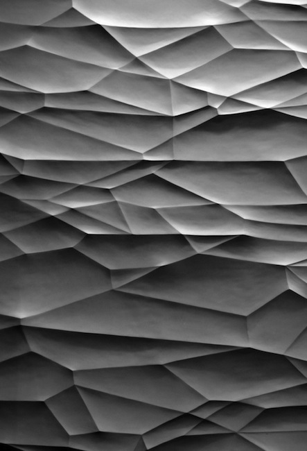 Polyhedral wall texture