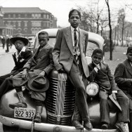 South Side boys on Easter morning by Russell Lee, Chicago, 1941