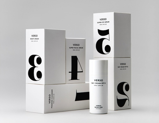 Today Creative - Packaging design for Verso Skincare