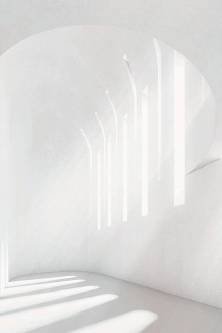 Church illuminated by light